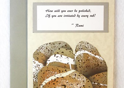Rumi Quote – polished stones